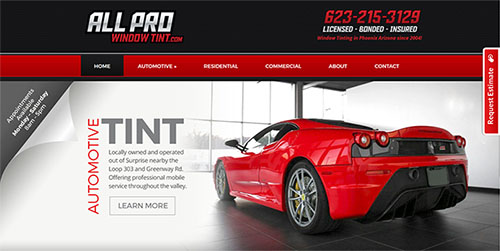 Window Tint Website
